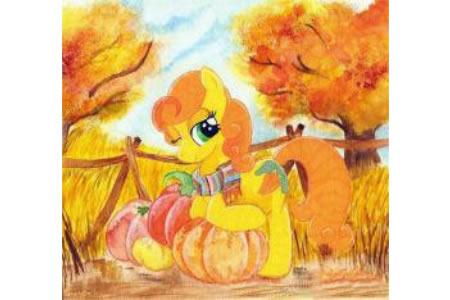 秋天到了小马宝莉画画图片欣赏