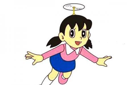 哆啦A梦动画角色小静简笔画