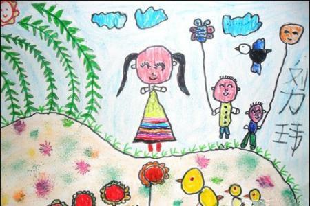 清明节踏青儿童画-清明节之行