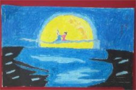 后羿嫦娥,中秋节儿童绘画