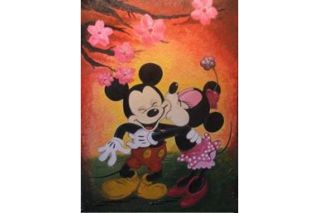 米妮和米奇卡通画米老鼠作品分享