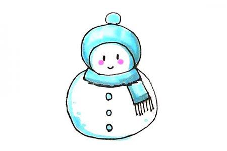 学画可爱的小雪人