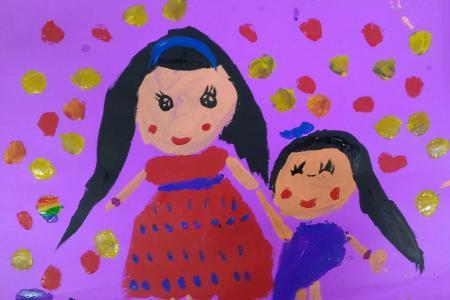 妈妈我爱你三八妇女节儿童画作品大全