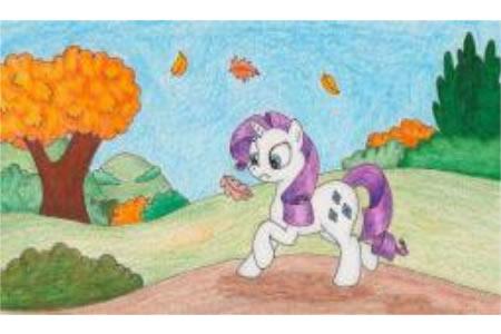 小宝谷里的秋天儿童画秋天的图画大全