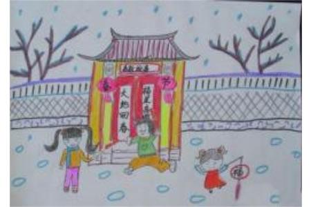 儿童画喜迎新春