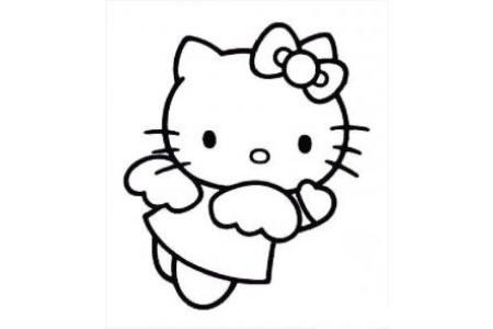 动漫人物简笔画 凯蒂猫简笔画图片