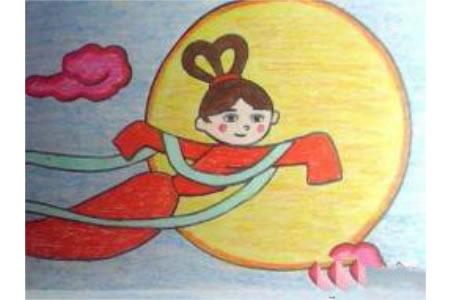 中秋节主题儿童画-嫦娥姐姐