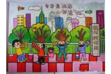 四年级国庆节图画 小学生国庆节图画大全