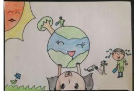 绿化我们的世界儿童植树节画画图片分享
