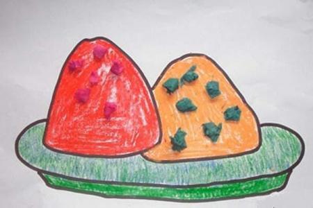端午节粽子儿童画图片