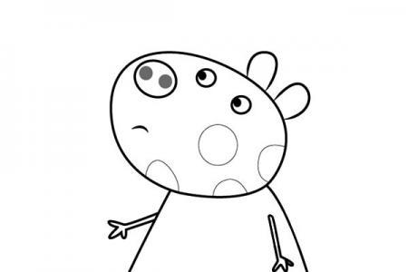 小猪佩奇之小马佩妮简笔画