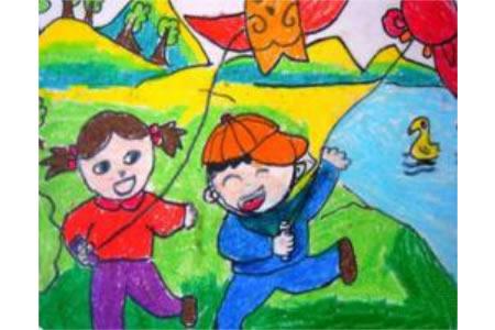 春天我和风筝来作伴