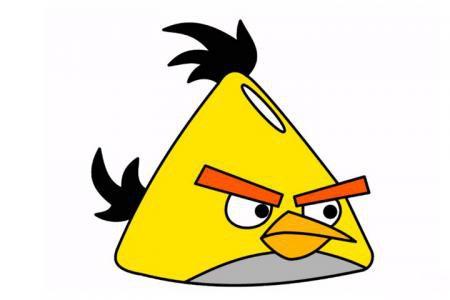 愤怒的小鸟之黄色小鸟的画法