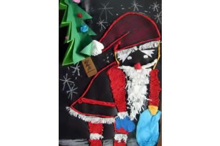 圣诞节儿童画 儿童粘贴画