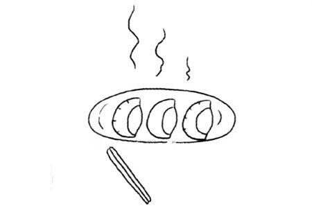 春节的节日元素 饺子