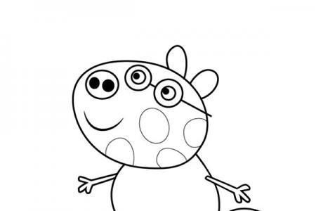 小猪佩奇之小马佩德罗简笔画