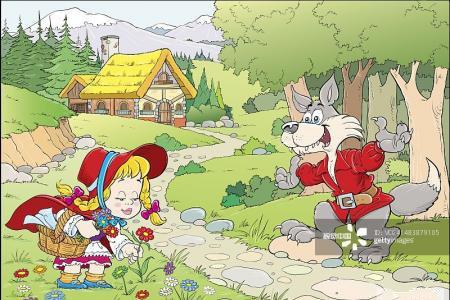 小红帽卡通动漫图片