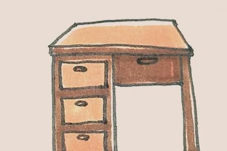 简笔画之书桌