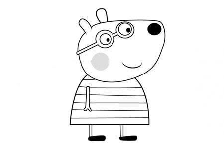 小猪佩奇之小熊贝琳达简笔画