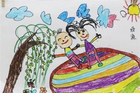 清明节踏青儿童画-感受节日的欢乐