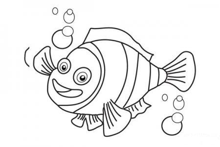 画海底总动员中的小丑鱼