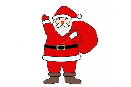 圣诞老人怎么画