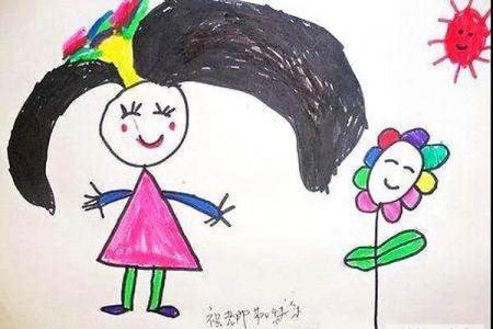 幼儿园小班教师节儿童画画图片:祝老师节日快乐