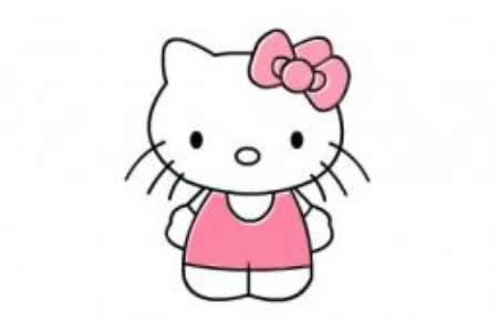 简单漂亮简笔画Kitty猫