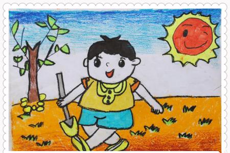 12张漂亮的五一劳动节儿童画图片