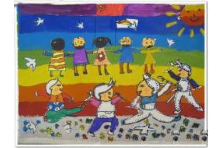 儿童画欢度国庆