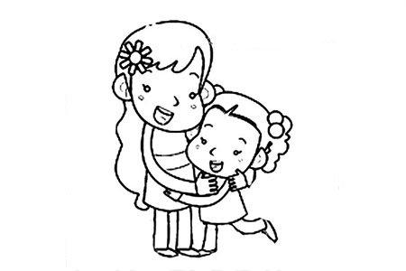 两张漂亮的母亲节节日简笔画