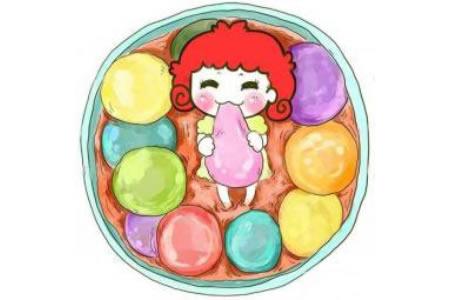 可爱的元宵节吃汤圆儿童画图片