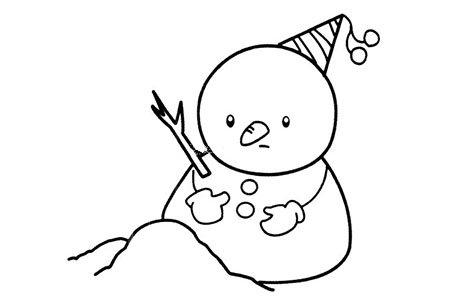 简笔画图片 雪人简笔画