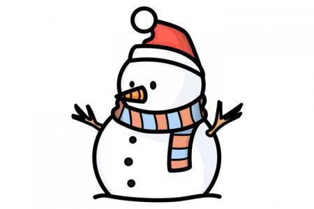 雪人怎么画