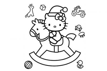 骑着木马的kitty猫