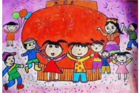 各族人民庆国庆,欢庆国庆节儿童画作品