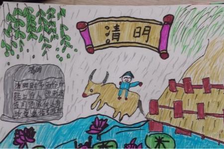 牧童骑黄牛关于清明节的儿童画图片分享