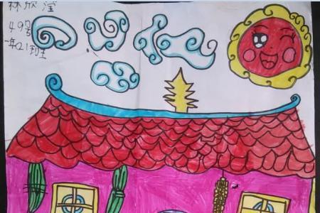 大家一起包粽子端午节主题画作品欣赏