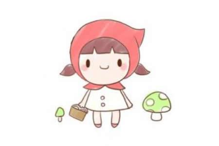 关于小红帽简笔画步骤