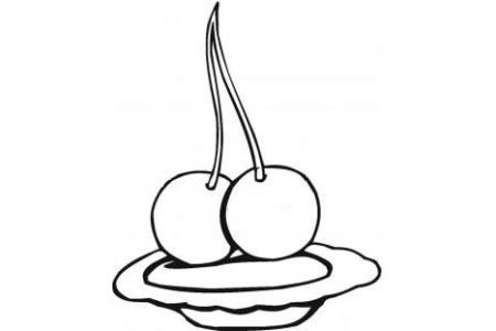 盘子里的樱桃