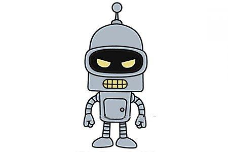 班德机器人简笔画图片