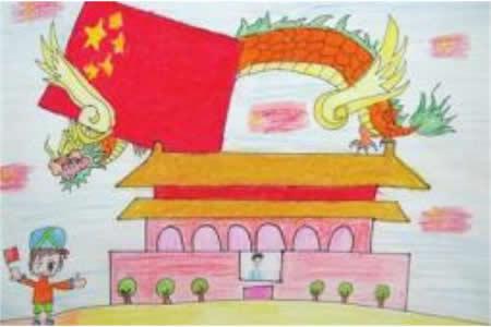 我爱北京天安门 ——国庆节儿童画大全