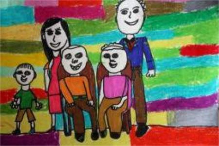 中秋全家福,有关于中秋节的儿童画