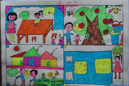 关于劳动节的儿童画-劳动最快乐