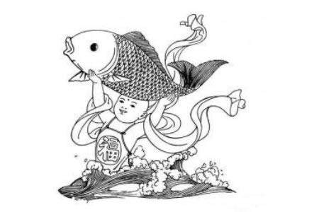 春节人物年画简笔画