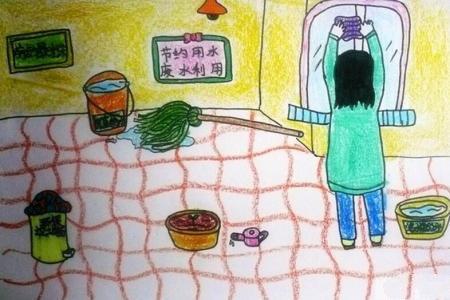 打扫卫生擦玻璃劳动节简单图画分享