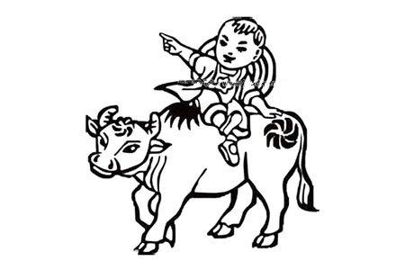 清明节诗词插图简笔画图片 牧童遥指杏花村