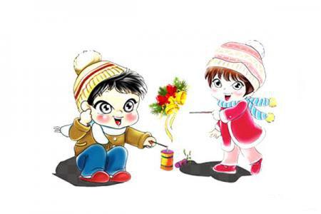 「年趣」春节放鞭炮的图片