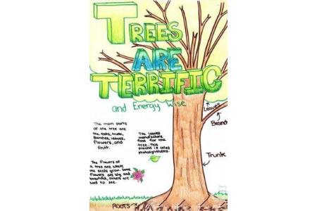 最重要的大树外国小朋友植树节画画图片大全