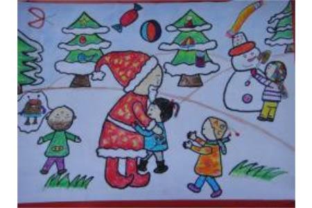 儿童画 新年心愿